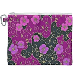 Floral Pattern Background Canvas Cosmetic Bag (xxxl) by Jojostore