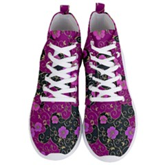 Floral Pattern Background Men s Lightweight High Top Sneakers by Jojostore
