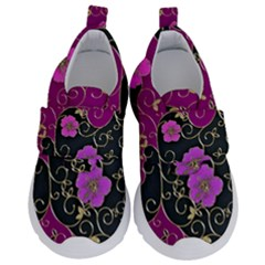 Floral Pattern Background Velcro Strap Shoes by Jojostore