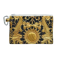 Golden Sun Canvas Cosmetic Bag (large) by Jojostore