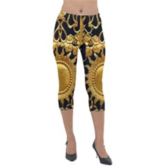 Golden Sun Lightweight Velour Capri Leggings