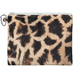Yellow And Brown Spots On Giraffe Skin Texture Canvas Cosmetic Bag (xxxl)