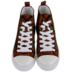 Art Psychedelic Pattern Women s Mid Top Canvas Sneakers