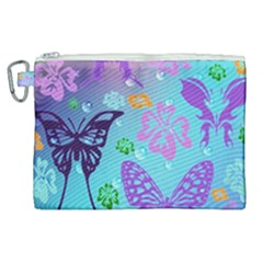 Butterfly Vector Background Canvas Cosmetic Bag (xl) by Jojostore