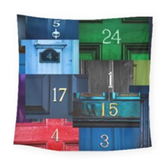 Door Number Pattern Square Tapestry (large) by Jojostore