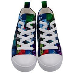Door Number Pattern Kid s Mid Top Canvas Sneakers