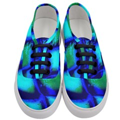 Blue Scales Pattern Background Women s Classic Low Top Sneakers