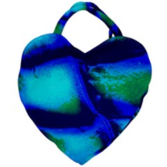 Blue Scales Pattern Background Giant Heart Shaped Tote by Jojostore
