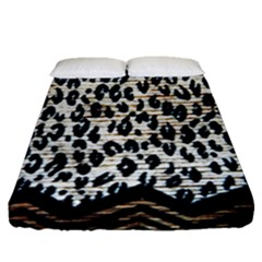 Tiger Background Fabric Animal Motifs Fitted Sheet (queen Size)