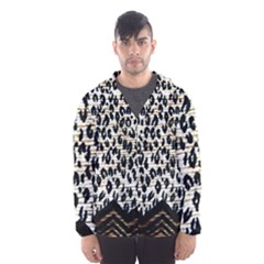 Tiger Background Fabric Animal Motifs Hooded Windbreaker (men)