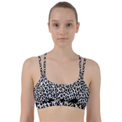 Tiger Background Fabric Animal Motifs Line Them Up Sports Bra by Jojostore