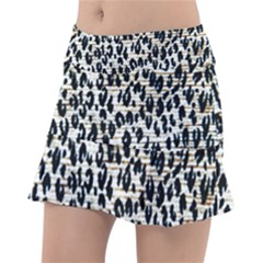 Tiger Background Fabric Animal Motifs Tennis Skirt
