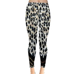 Tiger Background Fabric Animal Motifs Inside Out Leggings