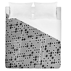 Metal Background Round Holes Duvet Cover (queen Size) by Jojostore