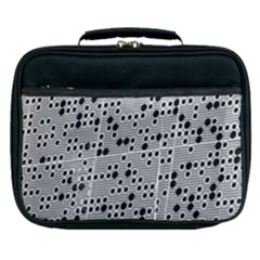 Metal Background Round Holes Lunch Bag by Jojostore