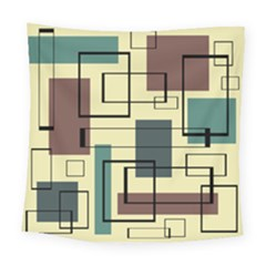 Mid Century Modern Rectangles Square Tapestry (large) by KayCordingly