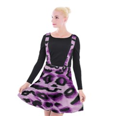 Background Fabric Animal Motifs Lilac Suspender Skater Skirt