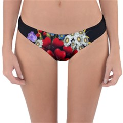 Flower Decoration Bouquet Of Flowers Reversible Hipster Bikini Bottoms