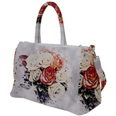 Flowers Background Wallpaper Art Duffel Travel Bag by Sapixe