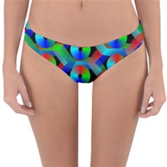 Bee Hive Color Disks Reversible Hipster Bikini Bottoms by Jojostore