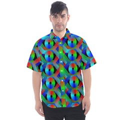 Bee Hive Color Disks Men s Short Sleeve Shirt by Jojostore