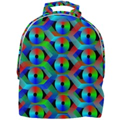 Bee Hive Color Disks Mini Full Print Backpack
