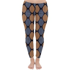 Abstract Seamless Pattern Classic Winter Leggings