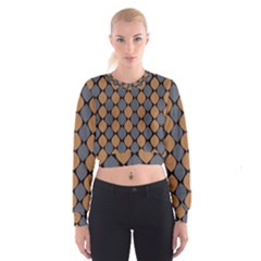 Abstract Seamless Pattern Cropped Sweatshirt