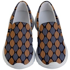 Abstract Seamless Pattern Kid s Lightweight Slip Ons