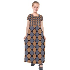 Abstract Seamless Pattern Kids  Short Sleeve Maxi Dress by Jojostore