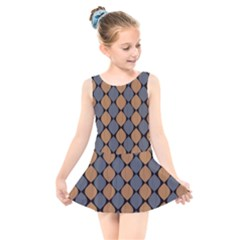 Abstract Seamless Pattern Kids  Skater Dress Swimsuit