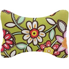 Flowers Fabrics Floral Design Seat Head Rest Cushion