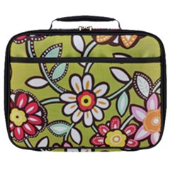 Flowers Fabrics Floral Design Full Print Lunch Bag by Sapixe