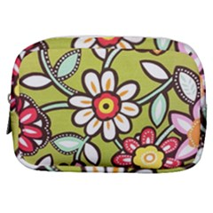 Flowers Fabrics Floral Design Make Up Pouch (small) by Sapixe