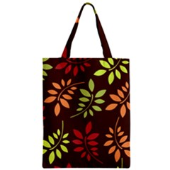 Leaves Foliage Pattern Design Zipper Classic Tote Bag by Sapixe