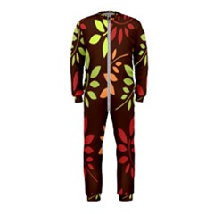 Leaves Foliage Pattern Design Onepiece Jumpsuit (kids)