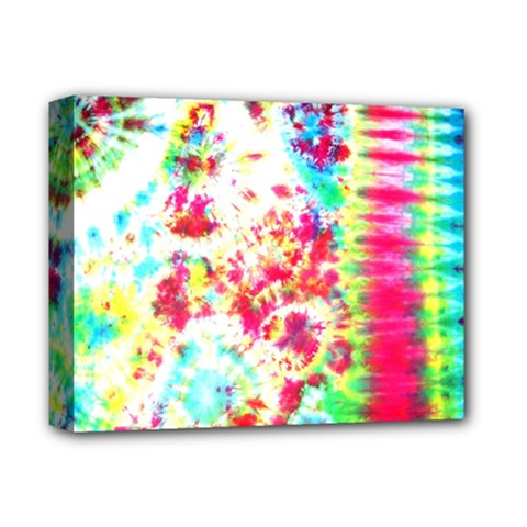 Pattern Decorated Schoolbus Tie Dye Deluxe Canvas 14  X 11  (stretched) by Jojostore