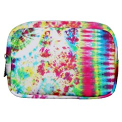 Pattern Decorated Schoolbus Tie Dye Make Up Pouch (small) by Jojostore