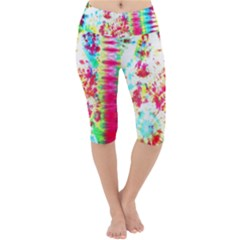 Pattern Decorated Schoolbus Tie Dye Lightweight Velour Cropped Yoga Leggings