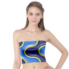 Pattern Curve Design Seamless Tube Top by Sapixe