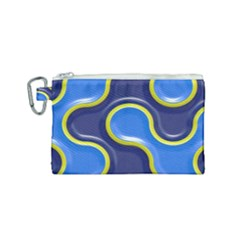 Pattern Curve Design Seamless Canvas Cosmetic Bag (small)