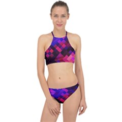 Pattern Seamless Pattern Tile Racer Front Bikini Set