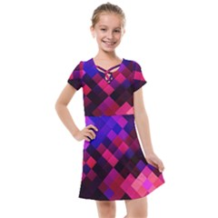 Pattern Seamless Pattern Tile Kids  Cross Web Dress by Sapixe