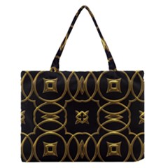 Seamless Pattern Abstract Zipper Medium Tote Bag by Sapixe