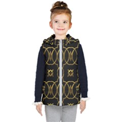 Seamless Pattern Abstract Kid s Hooded Puffer Vest by Sapixe