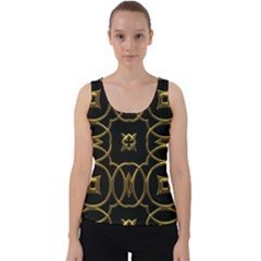 Seamless Pattern Abstract Velvet Tank Top by Sapixe