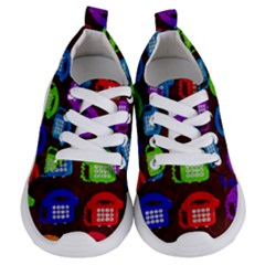 Grunge Telephone Background Pattern Kids  Lightweight Sports Shoes