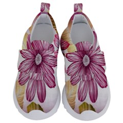 Print Fabric Pattern Texture Velcro Strap Shoes by Sapixe