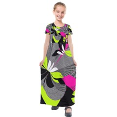 Nameless Fantasy Kids  Short Sleeve Maxi Dress by Jojostore
