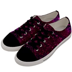 Retro Flower Pattern Design Batik Men s Low Top Canvas Sneakers by Sapixe
